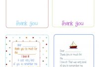 Printable Birthday Thank You Cards   Printables  Fonts pertaining to Free Printable Thank You Card Template