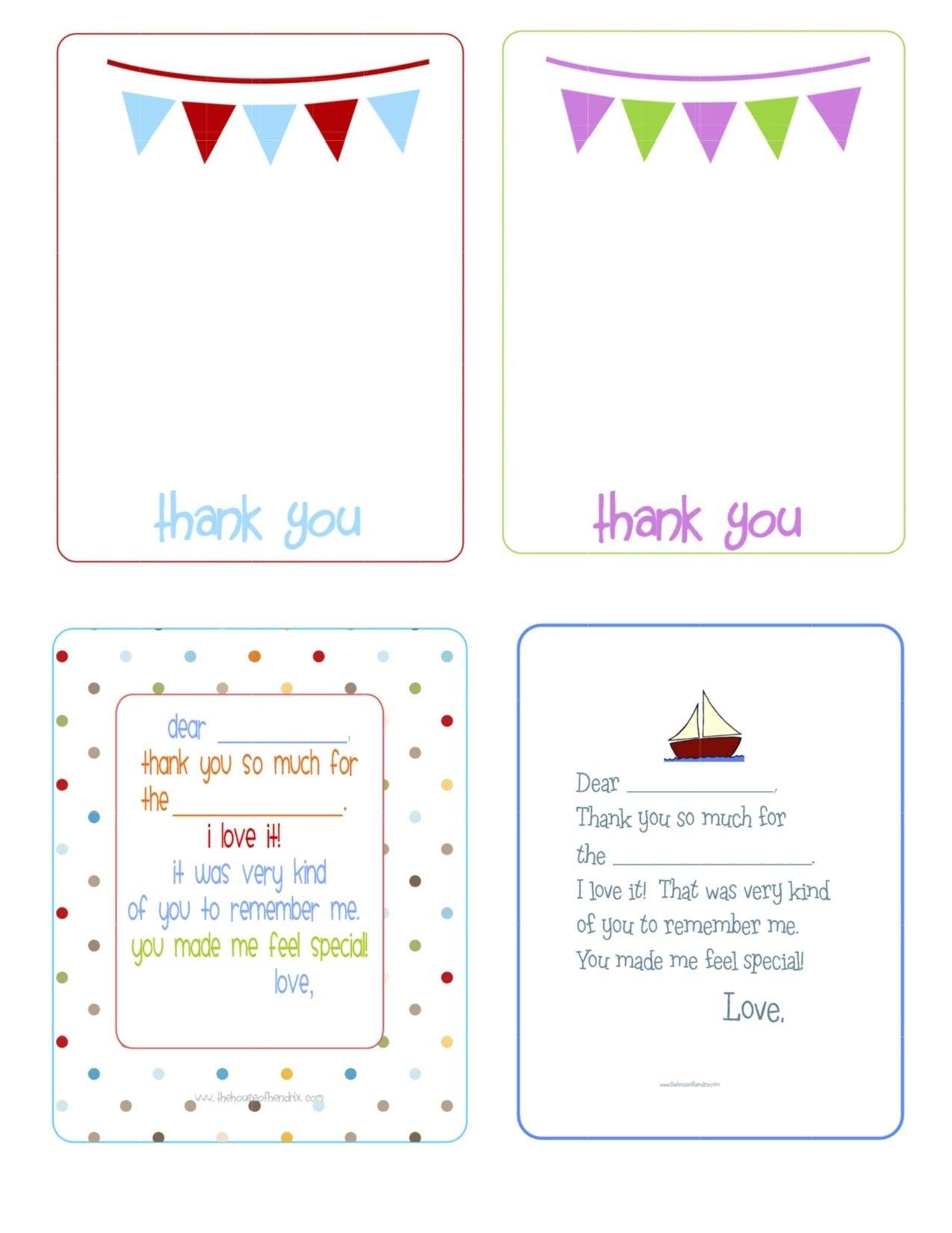 Printable Birthday Thank You Cards   Printables  Fonts Pertaining To Free Printable Thank You Card Template