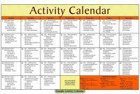Printable Blank Activity Calendars For Nursing Home Of Printable with Blank Activity Calendar Template