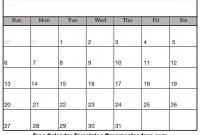 Printable Blank Calendar  Dream Calendars within Blank Calender Template