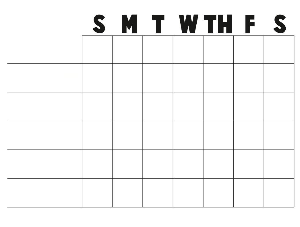 Printable Blank Chart Templates   Lemonadecandy Stand Throughout Blank Reward Chart Template