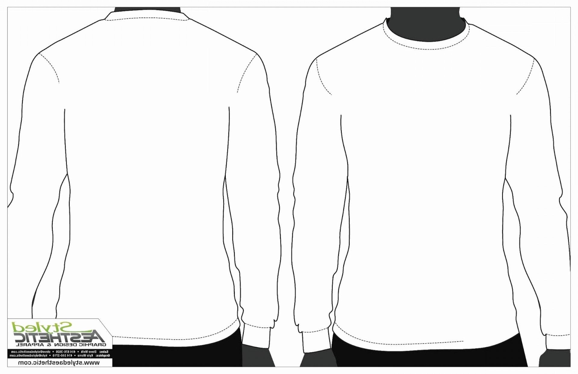 Printable Blank Tshirt Template Luxury Long Sleeve T Shirt Vector Regarding Blank Tshirt Template Printable