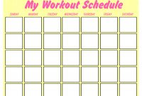 Printable Blank Workout Schedule  Templates At pertaining to Blank Workout Schedule Template