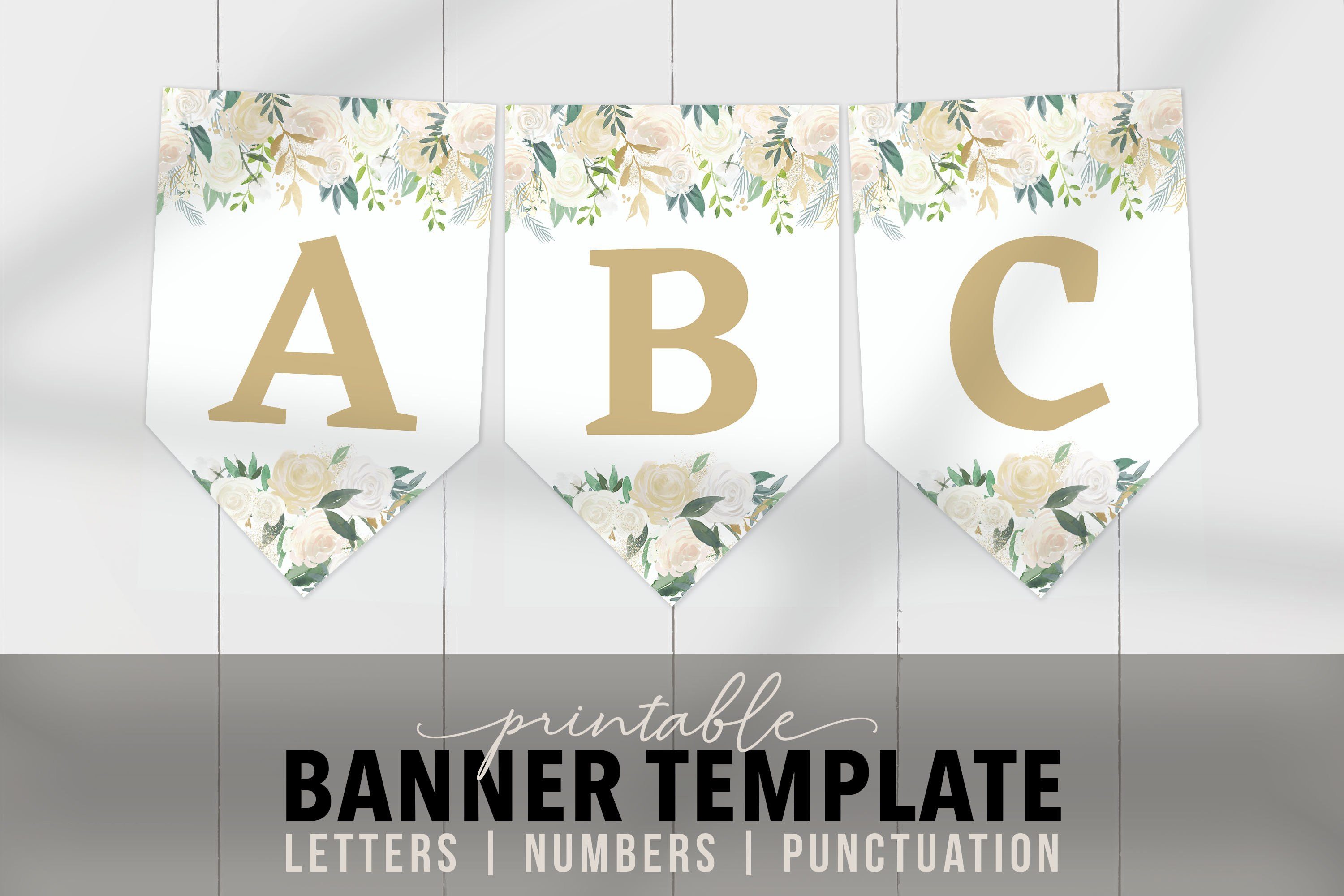 Printable Bridal Banner Template  Floral Banner Flags  Editable Printable  Banner Letters Pdf Bridal Birthday Baby Shower Party Banner Pertaining To Bride To Be Banner Template