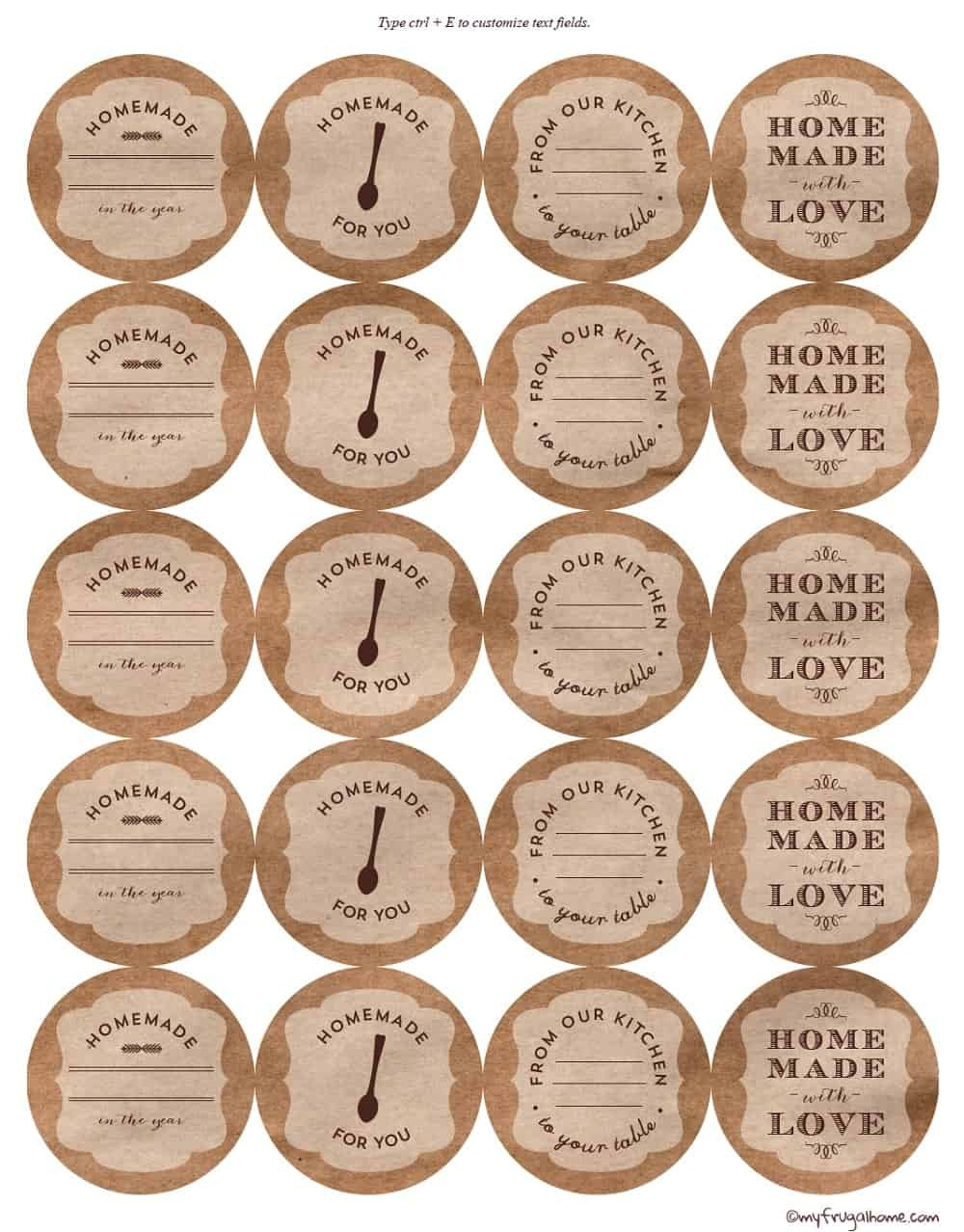 Printable Canning Jar Labels For Canning Labels Template Free