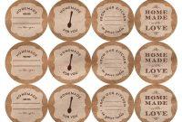 Printable Canning Jar Labels inside Canning Jar Labels Template