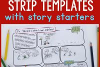 Printable Comic Strip Templates With Story Starters  Frugal Fun For intended for Printable Blank Comic Strip Template For Kids