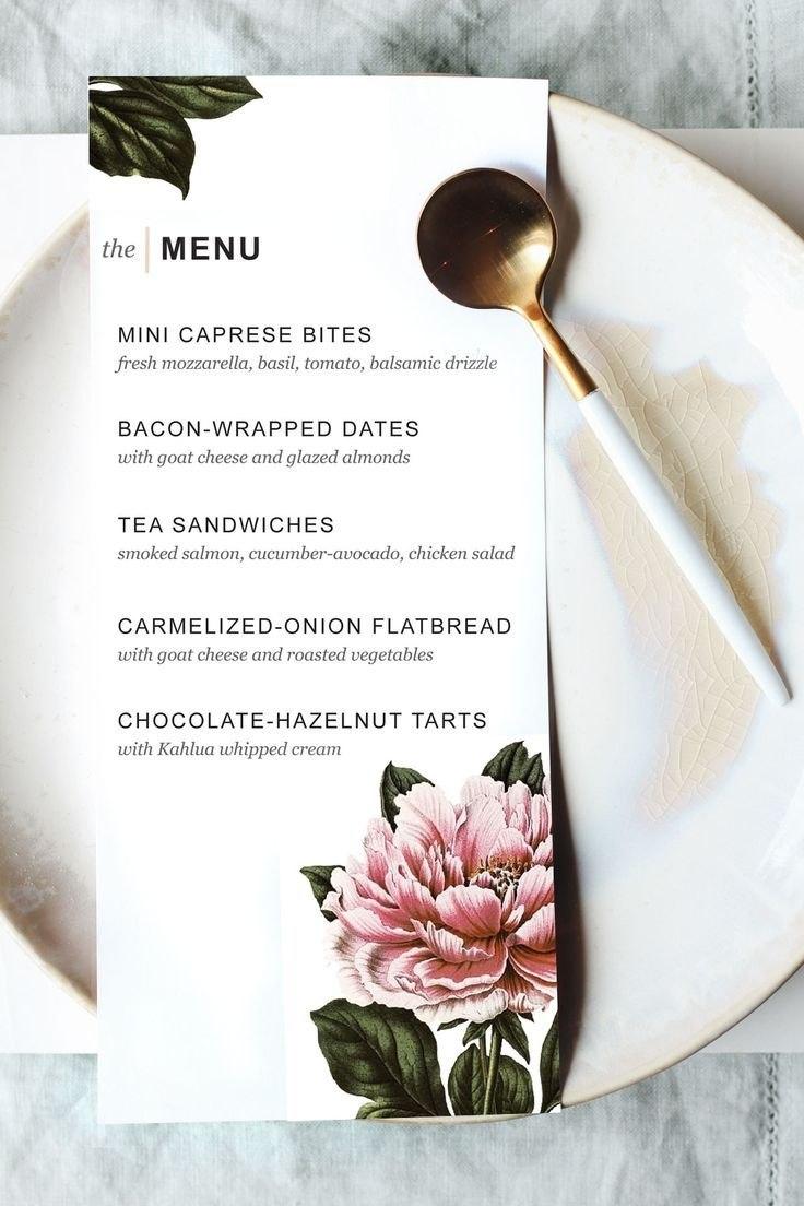 Printable Dinner Party Menu Template  Menu Cards And Fun  Wedding With Regard To Fun Menu Templates