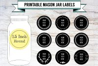 Printable Diy Chalkboard Mason Jar Labels Canning Labels   Etsy regarding 1.5 Circle Label Template
