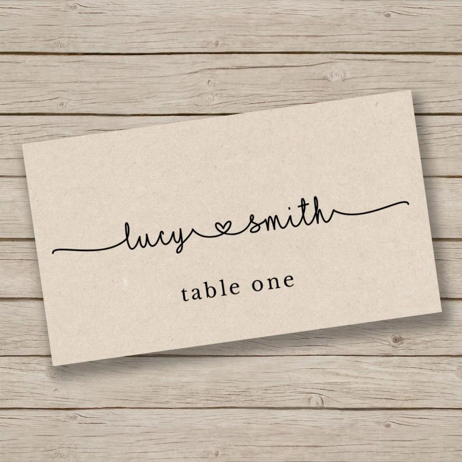 Printable Escort Card Template  Place Card Template  Tent Intended For Tent Name Card Template Word