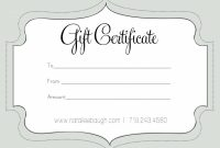 Printable Fillable Gift Certificate Template Custom Certificates intended for Fillable Gift Certificate Template Free