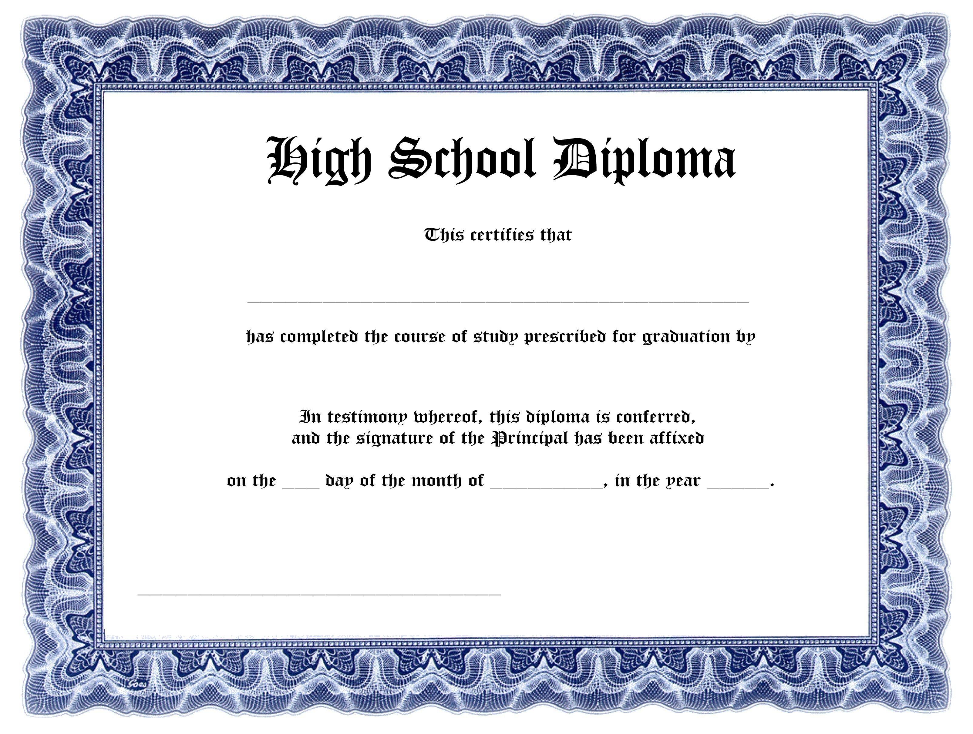 Printable Ged Certificate  Katieroseintimates Inside Ged Certificate Template