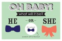 Printable Gender Reveal Cards  Parents intended for Scratch Off Card Templates