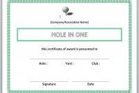 Printable Golf Award Certificate Templates with Golf Certificate Templates For Word