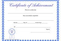 Printable Hard Work Certificates Kids  Printable Certificate Of with Free Printable Certificate Of Achievement Template