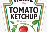 Printable Heinz Ketchup Label Png Image  Transparent Png Free intended for Heinz Label Template