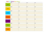 Printable Monthly Menu Template  Home Life Weekly Menu Planner inside Weekly Dinner Menu Template