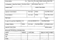Printable Personal Loan Application Form Agreement with Credit Application And Agreement Template