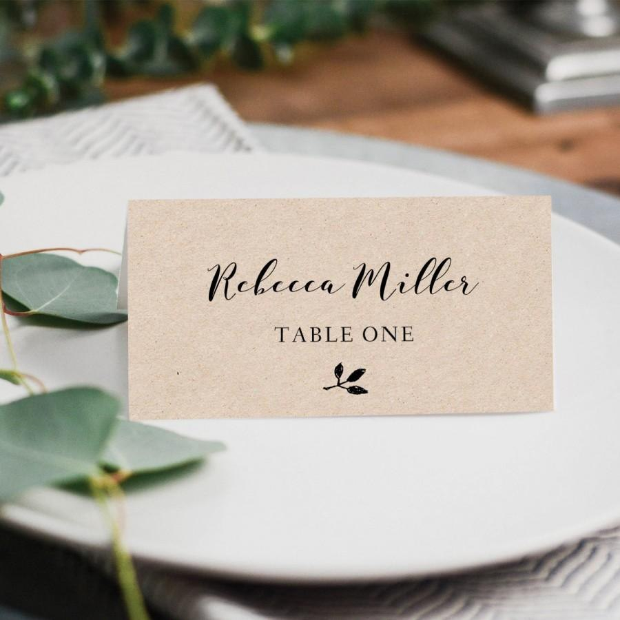 Printable Place Cards Place Card Template Editable Place Cards Throughout Printable Escort Cards Template