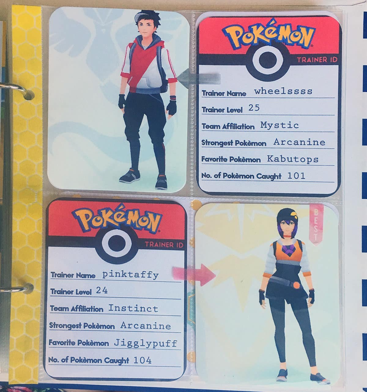 Printable Pokémon Go Trainer Id Cards  Love Paper Crafts In Pokemon Trainer Card Template