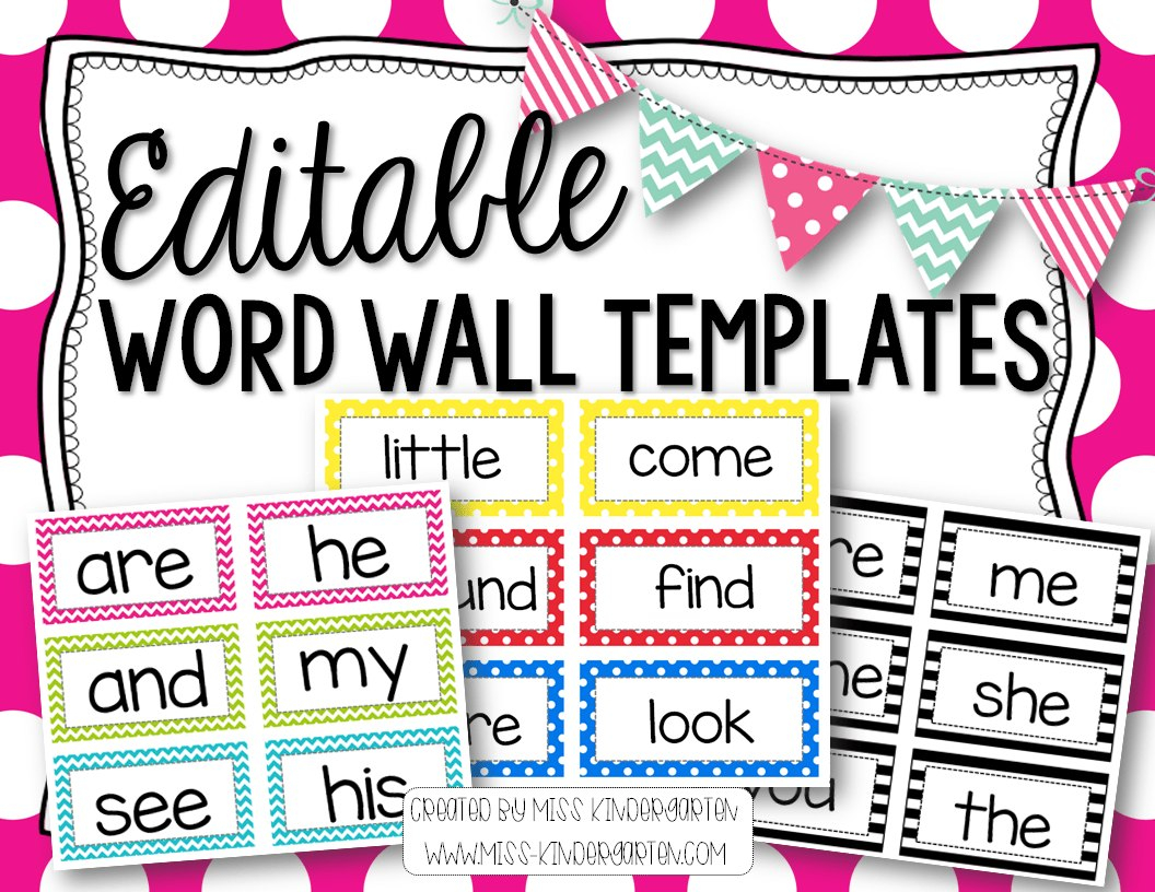 Printable Portable Word Wall Template – Gubel In Blank Word Wall Template Free