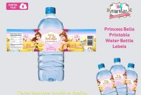 Printable Princess Belle Water Bottle Label Princess Belle  Etsy throughout Bubble Bottle Label Template