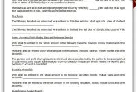 Printable Property Settlement Agreement Template  Printable Legal with regard to Property Settlement Agreement Sample