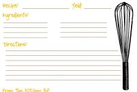 Printable Recipe Cards For Kids Recipe Template For Kids  Recipe throughout Fillable Recipe Card Template