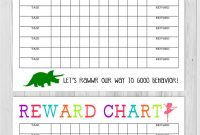 Printable Reward Charts For Kids Pdf Excel  Word inside Reward Chart Template Word
