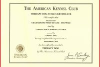Printable Service Dog Certificate Luxury Service Dog Certificate within Service Dog Certificate Template