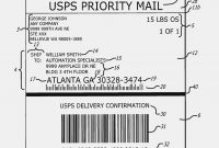 Printable Shipping Labels Sticker  Of Usps Shipping Label Template intended for Usps Shipping Label Template