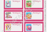 Printable Shopkins Labels For School Suppliesokprintables On within Notebook Label Template