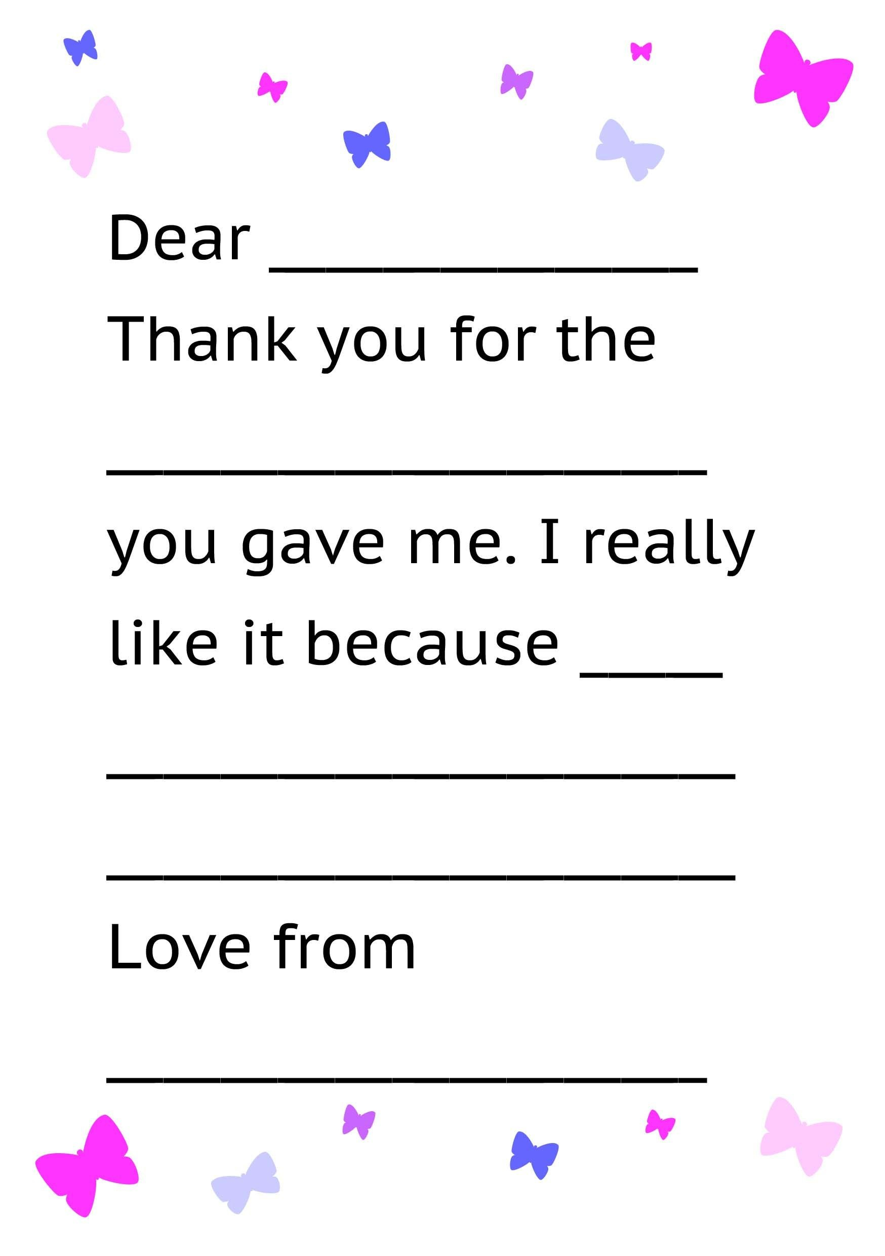 Printable Thank You Card Template For Kids  Kids Thank Yous  Thank Throughout Thank You Note Cards Template