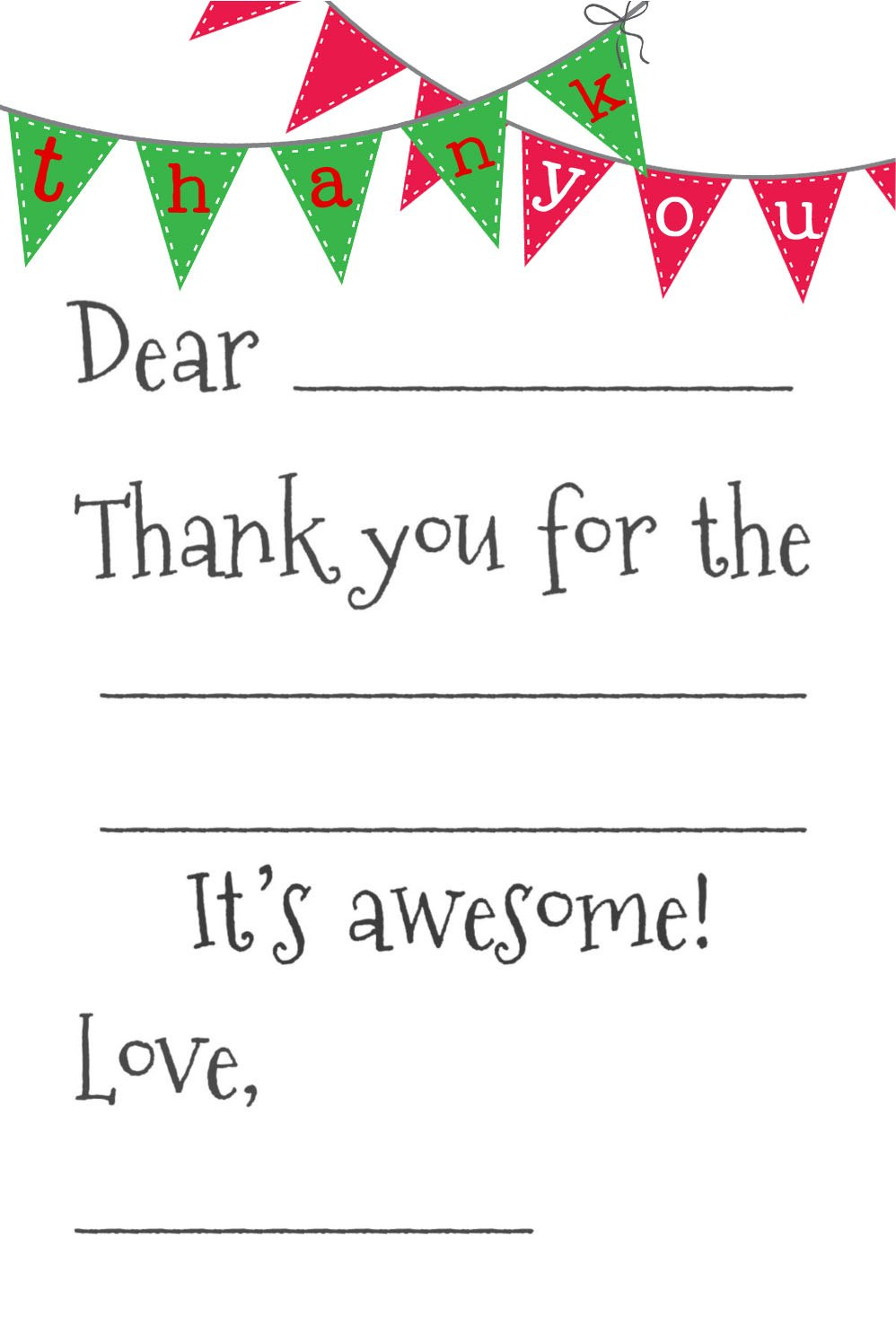 Printable Thank You Cards For All Purposes  Kittybabylove Inside Free Printable Thank You Card Template