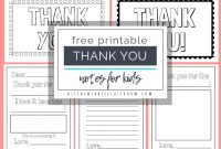 Printable Thank You Cards For Kids  The Kitchen Table Classroom regarding Free Printable Thank You Card Template