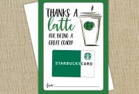 Printable Thanks A Latte Card Thank You Card Gift Card  Etsy within Thanks A Latte Card Template