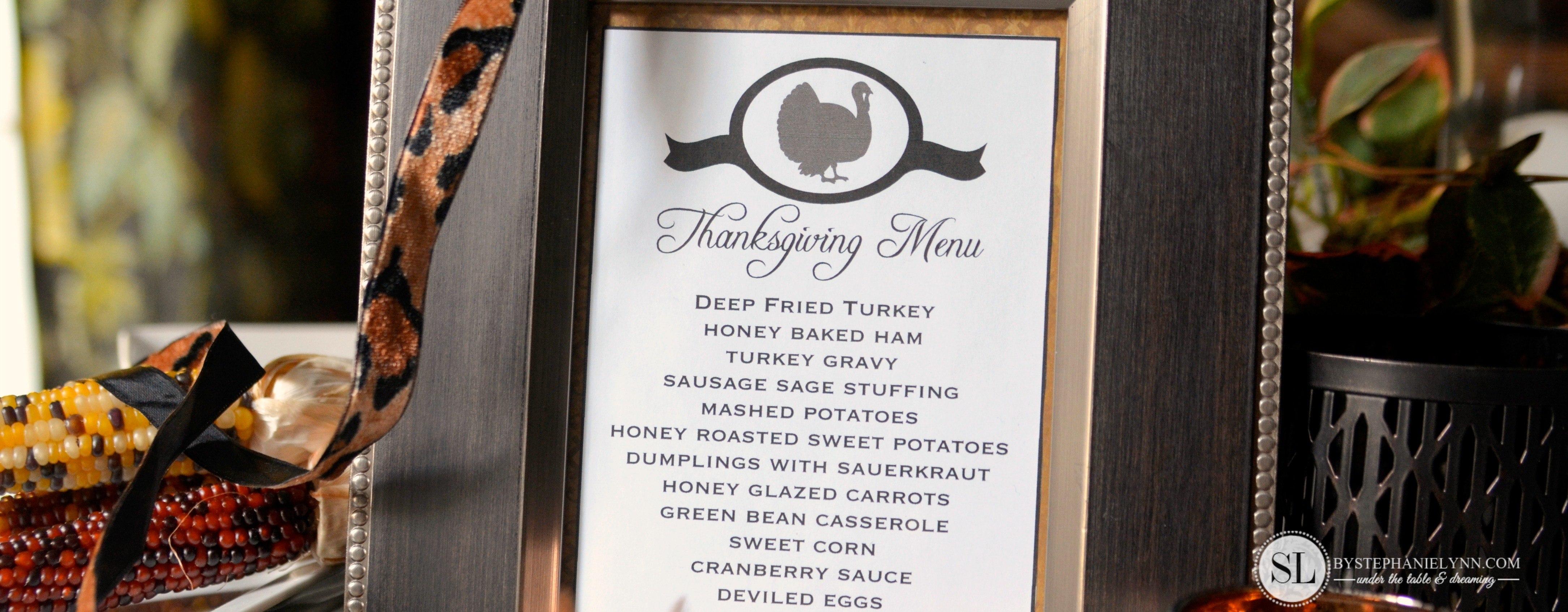 Printable Thanksgiving Menu Template  Making Printables With The Throughout Thanksgiving Menu Template Printable