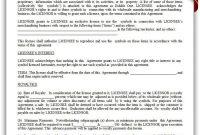 Printable Trademark License Agreement Template  Printable Legal intended for Trade Secret License Agreement Template
