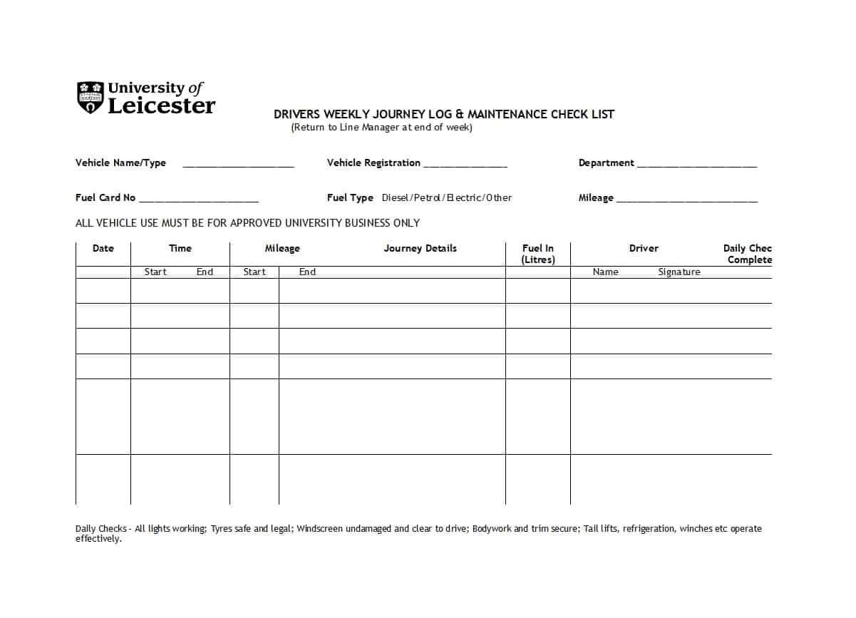 Printable Vehicle Maintenance Log Templates ᐅ Template Lab Regarding Job Card Template Mechanic