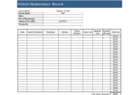 Printable Vehicle Maintenance Log Templates ᐅ Template Lab with regard to Computer Maintenance Report Template