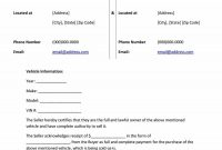 Printable Vehicle Purchase Agreement Templates ᐅ Template Lab for Car Purchase Agreement Template