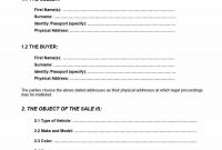 Printable Vehicle Purchase Agreement Templates ᐅ Template Lab inside Car Purchase Agreement Template