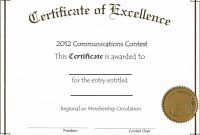 Printable Volunteer Certificate Of Appreciation  Free Download  D in Certificate Of Excellence Template Free Download