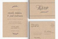 Printable Wedding Invitation Suite  Rustic Wedding Invitation throughout Wedding Card Size Template