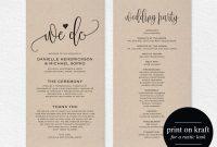 Printable Wedding Program Templates ~ Wedding Invitation Collection for Free Printable Wedding Program Templates Word