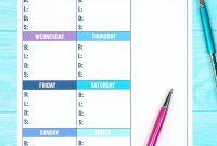 Printable Weekly Meal Planner Template  Happiness Is Homemade regarding Menu Schedule Template