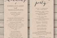 Printable Word Free Wedding Program Staggering Templates inside Free Printable Wedding Program Templates Word