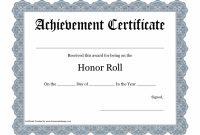 Printablecertificatepdfshonorroll  Craft Ideas  Certificate pertaining to Honor Roll Certificate Template