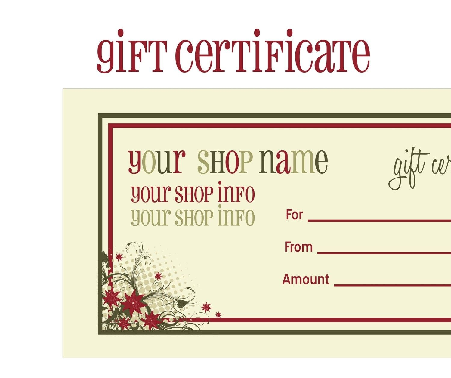 Printablechristmasgiftcertificatetemplate  Massage Certificate Regarding Massage Gift Certificate Template Free Printable