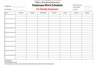 Printableemployeeworkscheduletemplate  Bored At Work  Schedule pertaining to Blank Monthly Work Schedule Template
